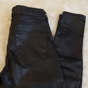 TOPSHOP Moto Coated Leigh Jeans
